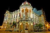 Historical Cuenca, Ecuador night long exposure — Stock Photo