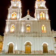 Night shot of a church of Cuenca, Ecuador — Stock Photo