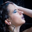 Girl in the shower with water drops set — Stock Photo #13559474