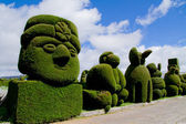 Sculpted trees topiary, Tulcan Ecuador — Stock Photo