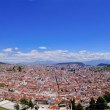Panoramic view of Quito in Ecuador blue skyes — Stock Photo