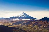 Cotopaxi vulkan, ecuador antenn skott — Stockfoto