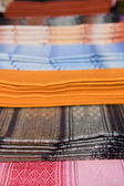 Ecuadorian Blankets for Sale in Otavalo Market — Stock Photo