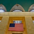 Grand Central Terminal Station Flag, New York, USA. — Stock Photo