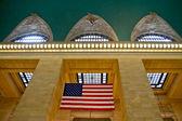 Grand Central Terminal Station Flag, New York, USA. — Stockfoto