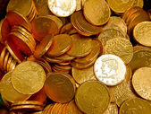 Background with gold coins — Stock Photo