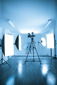 Photo of an empty photographic and video studio. — Stock Photo