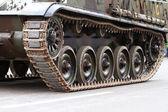 Caterpillars of a tank — Stock Photo