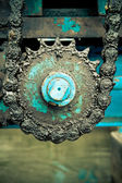 Huge greasy roller chain — Fotografia Stock