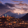 Stock Photo: Quito at night, Ecuador.