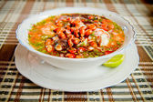 Ecuador food: shrimp and fish ceviche, raw fish — Stock Photo