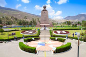 Monument Mitad del Mundo near Quito in Ecuador — Stock Photo