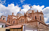 New cathedral in Cuenca with blue sky — Stock Photo