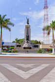 Roundabout with Grau monument in Piura, Peru — Stock Photo