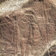 Nazca Lines, Peru. The Astronaut — Stock Photo