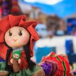 The traditional market of Pisac, Peru - ストック写真