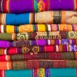 Colorful peruvian fabric background — Stock Photo