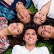 Happy smiling group of young friends — Stock Photo