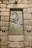 Doorway of the temple of Machu Picchu, Peru — Stock Photo