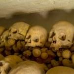 Real human skulls in Lima, Peru — Stock Photo