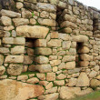 Inca wall in the ancient city of Machu Picchu — Stock Photo