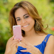 Woman messaging on her smart phone — Foto de Stock