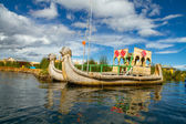 The floating and tourist Islands of lake Titicaca — Stock Photo