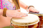 Playing the drum — Stock Photo