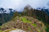 Tourist at Lost City of Machu Picchu - Peru — Stock Photo