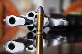 Gun with bullet. — Stock Photo