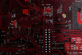 Detail of an electronic printed circuit board — Stock Photo