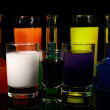 Royalty-Free Stock Photo: Fresh drinks on black background