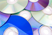 DVD and CD background — Stock Photo