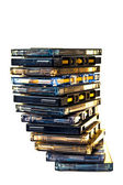 Cassette pile COLOR PROCESSED POP — Stock Photo