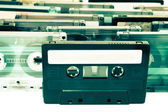 Un montón de cintas de audio color proccessed — Foto de Stock