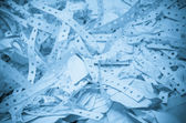 Waste paper recycling. office — Stock Photo