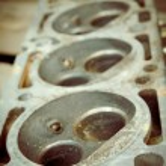 Shot of car engine block vintage processed — Stock Photo