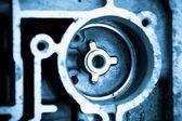Gros coup de composants de moteurs automobiles — Photo