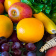 Composition with fruits and vegetables — Stock Photo