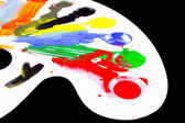 Art palette with blobs of paint — Stock Photo