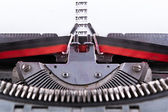 Concept about Love written on an old typewriter . — Foto Stock