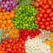 Stock Photo: Fresh and organic vegetables at farmers market