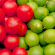 Two colors of fresh fruits and vegetables set - Stock Photo