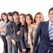 Stock Photo: Group of hispanic business
