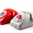 Classic 1970 - 1980 retro dial style telephones — Stock Photo #26778421