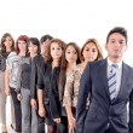 Group of hispanic business — Stock Photo