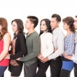 Multi Ethnic Standing In A Row — Stock Photo