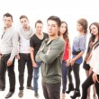 Hispanic group of students standing — Stock Photo