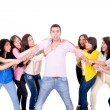 Eight Girls fighting over a guy — Stock Photo #27374485