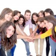 Group of happy , joining hands — Stock Photo #27375809